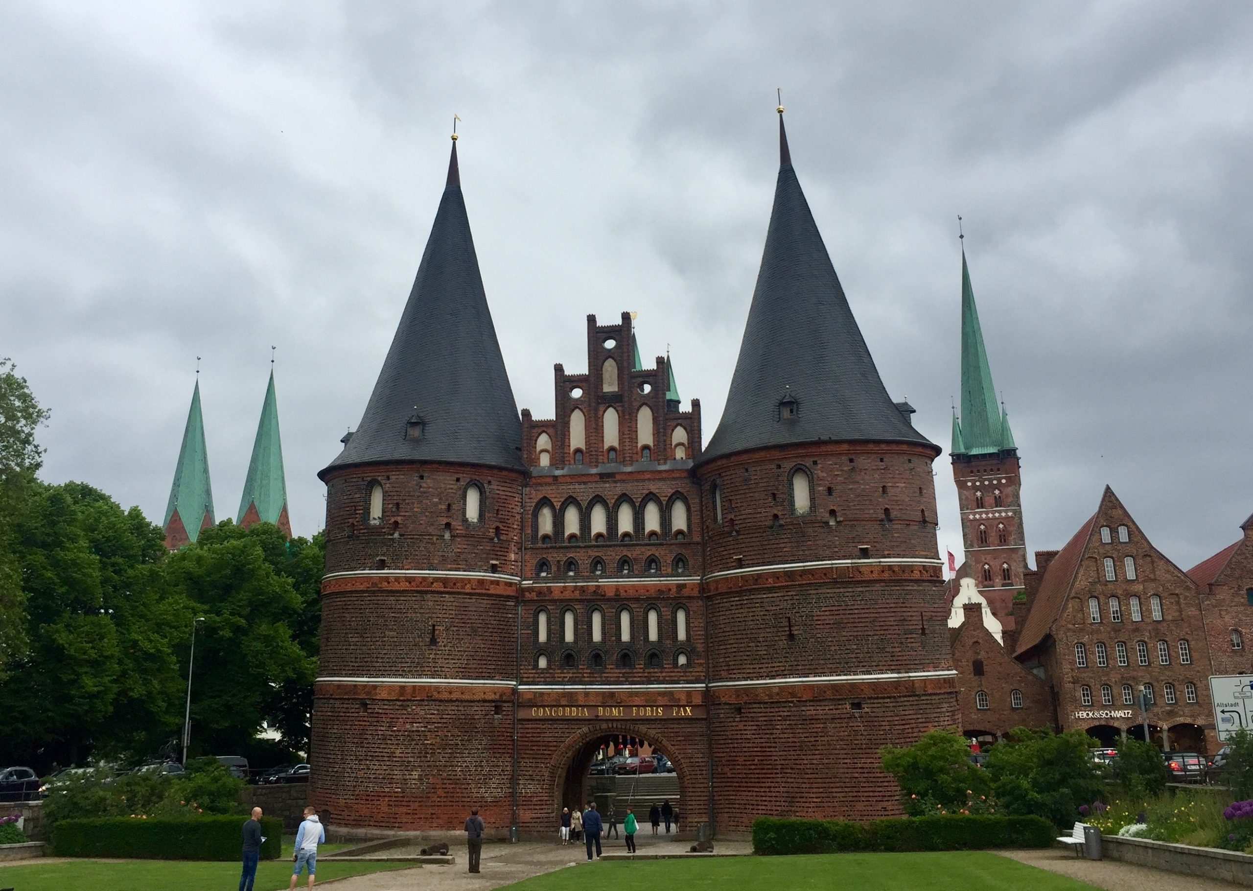 The old town gate in Lubeck.